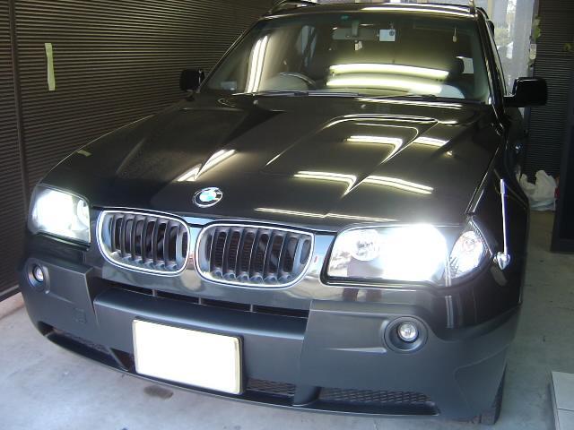 BMW X3☆大阪・デッキ・HID・LED取り付け